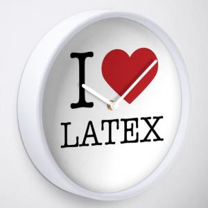 I Love Latex Fashion Clock White