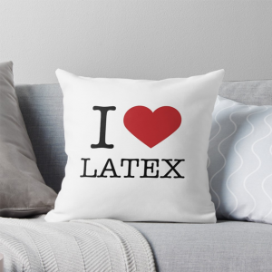 I Love Latex Fashion Cushion Pillow White
