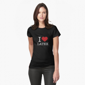 I Love Latex Fashion Female T-Shirt Black