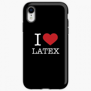 I Love Latex Fashion iPhone Case Black