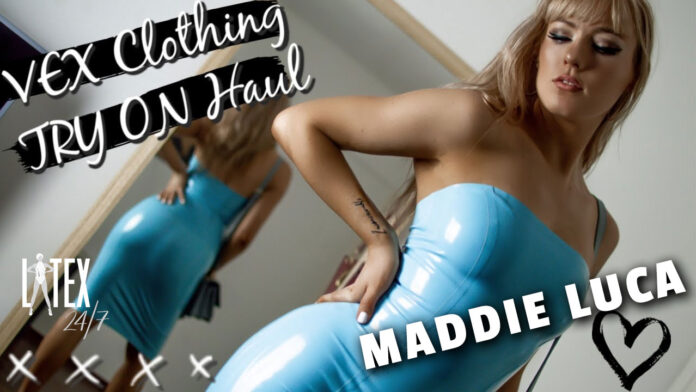 YouTube Vlogger Maddie Luca Reveals HUGE Vex Latex Clothing Try-on Haul