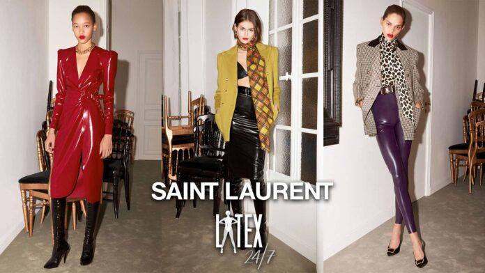 Saint Laurent Latex Fashion Winter Collection 2020