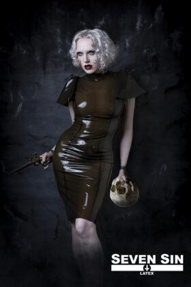 Seven Sin Latex Fashion Bullion Collection Natascha Dress Front