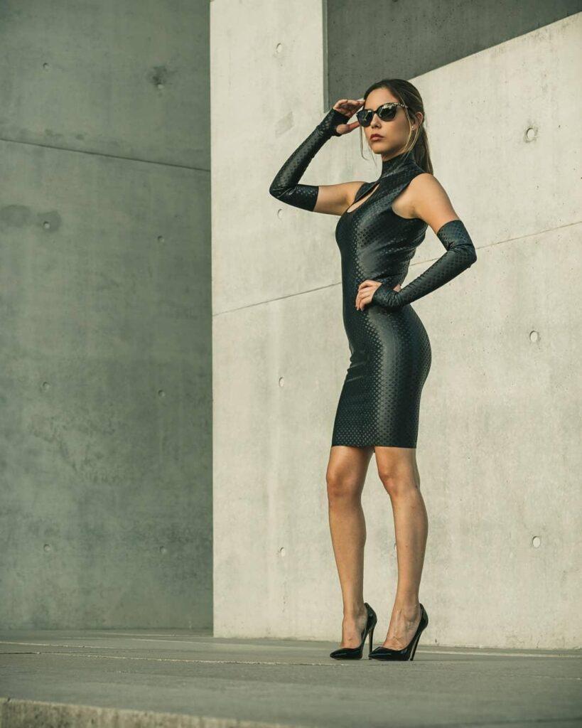 Model Mi Mo Da wears TlcLatex Fashion