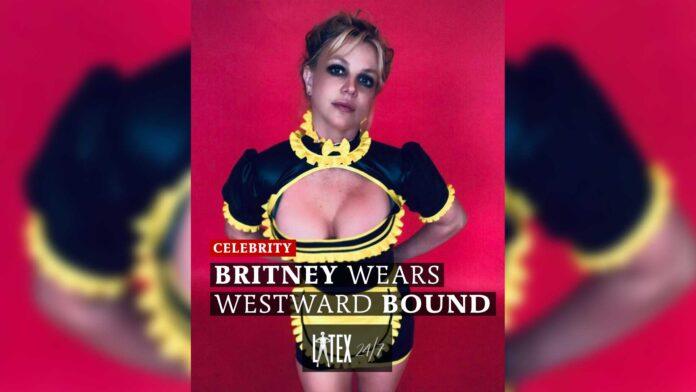 Britney Spears Wears Westward Bound Latex Fashion Rubber Maid