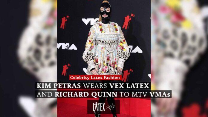 Kim Petras wears Richard Quinn latex catsuit and dress to MTV VMAs